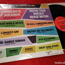 Discos de vinilo: THEMES FROM GREAT FILMS LP 196? TIME RECORDS USA RECOPILATORIO HUGO MONTENEGRO+DON SEBESKY+ETC. Lote 195521016
