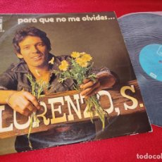 Discos de vinilo: LORENZO SANTAMARIA PARA QUE NO ME OLVIDES LP 1975 EMI-ODEON SPAIN ESPAÑA. Lote 195521037