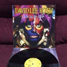Discos de vinilo: DAVID LEE ROTH (VAN HALEN, STEVE VAI) - EAT 'EM AND SMILE LP, PROMOCIONAL, 1986, ESPAÑA, DIFÍCIL!!!. Lote 195523622