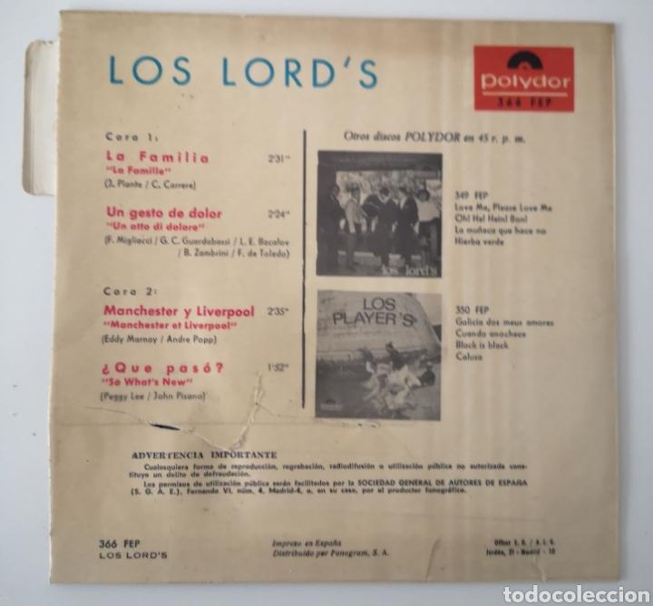 Discos de vinilo: LOS LORDS - LA FAMILIA - RARO DIFICIL - Foto 3 - 195523628
