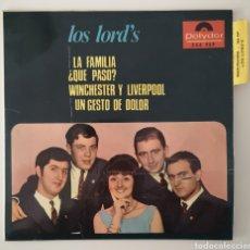 Discos de vinilo: LOS LORD'S - LA FAMILIA - RARO DIFICIL. Lote 195523628