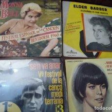 Discos de vinilo: 3 EP Y SENCILLO, MONNA BELL, RAIMON, ELDER BARBER, MIREILLE MATHIEU. Lote 195527531