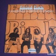 Discos de vinilo: FRIJID PINK SG DERAM 1970 - CANCION PARA LA LIBERTAD / EN EL INFINITO - BLUES ROCK 70'S . Lote 195532541