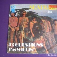 Discos de vinilo: SEATRAIN SG CAPITOL 1971 - 13 QUESTIONS / I'M WILLIN' - ROCK FUSION 70'S - BLUES PROJECT - . Lote 195533278
