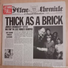 Discos de vinilo: JETHRO TULL. THICK AS A BRICK. CHRYSALIS CHR 1003. 1972 UK. VG++. VG++.. Lote 195535028