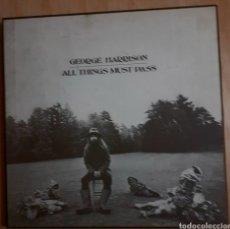 Discos de vinilo: GEORGE HARRISON. ALL THINGS MUST PASS. BOX 3 LP. APPLE STCH 3-639 YEX 822. 1970 UK. Lote 195535706