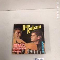 Discos de vinilo: DUO RUBAM. Lote 195538098