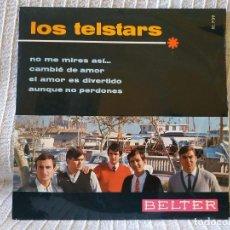 Discos de vinilo: LOS TELSTARS - NO ME MIRES ASI + 3 - MUY RARO EP DEL SELLO BELTER 51.739 AÑO 1966 EXCELENTE ESTADO. Lote 195539046