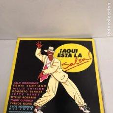 Discos de vinilo: AQUÍ ESTÁ LA SALSA. Lote 195544251