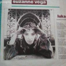 Discos de vinilo: SUZANNE VEGA LUKA SINGLE VERSION EN ESPAÑOL. Lote 195546945