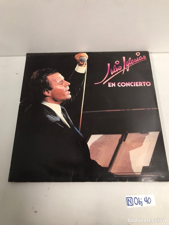 JULIO IGLESIA EN CONCIERTO (Música - Discos - LP Vinilo - Cantautores Españoles)
