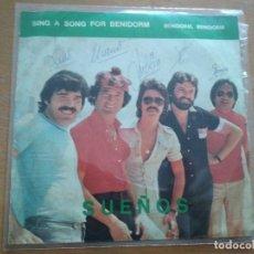 Discos de vinilo: SUEÑOS SING A SONG FOR BENIDORM SINGLE 1978 ¡¡VINILO PERFECTO¡¡. Lote 195547702