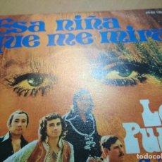 Discos de vinilo: LOS PUNTOS ESA NIÑA QUE ME MIRA SINGLE. Lote 195548207