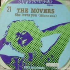 Discos de vinilo: THE MOVERS - SHE LOVES YOU ELLA TE AMA MAXI SINGLE SPAIN 1978. Lote 195548656