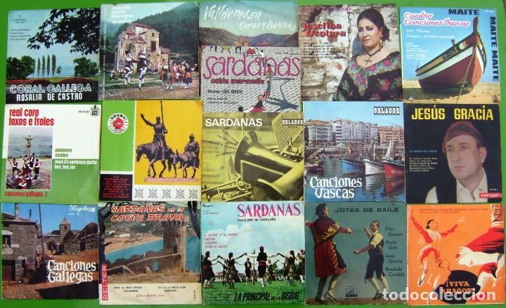 LOTE DE 16 SINGLES Y EPS DE MÚSICA FOLK (Música - Discos - Singles Vinilo - Country y Folk)