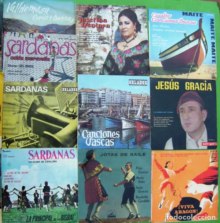Discos de vinilo: Lote de 16 singles y EPs de música folk - Foto 3 - 195575450