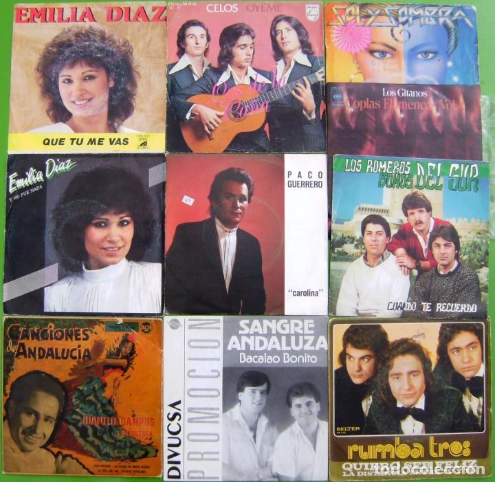LOTE 10 SINGLES (EMILIA DIAZ,JUANITO CAMPOS, LOS GITANOS, ROMEROS DEL SUR (Música - Discos - Singles Vinilo - Flamenco, Canción española y Cuplé)