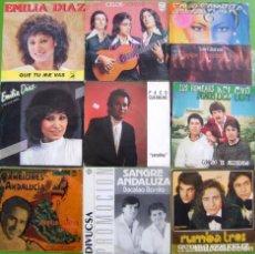 Discos de vinilo: LOTE 10 SINGLES (EMILIA DIAZ,JUANITO CAMPOS, LOS GITANOS, ROMEROS DEL SUR. Lote 195577752