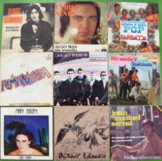Discos de vinilo: LOTE 9 SINGLES (ANA BELEN, SERRAT, FORMULA V, ALMANZORA, CAMILO SESTO, ALBERT HAMMOND. Lote 195583981