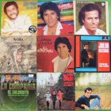 Discos de vinilo: LOTE 9 SINGLES (JUAN PARDO, JULIO IGLESIAS, LA COMPAÑIA, GEORGIE DAN. Lote 195584171
