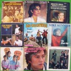 Discos de vinilo: LOTE 9 SINGLES (MIKE KENNEDY, LOS VALLDEMOSA, LOS PAYOS, MOCEDADES, MIGUEL RIOS, LOLITA. Lote 195584330