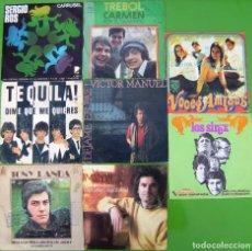 Discos de vinilo: LOTE 8 SINGLES (TREBOL, LOS SIREX, TEQUILA, VICTOR MANUEL, VOCES AMIGAS, TONY LANDA. Lote 195584755
