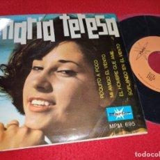 Disques de vinyle: MARIA TERESA EL HOMBRE QUE AME/SOPLANDO EN EL VIENTO/POQUITO A POCO +1 EP 1967 MARFER DYLAN EX. Lote 195588847
