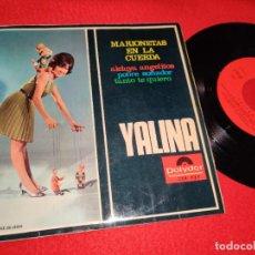 Disques de vinyle: YALINA MARIONETAS EN LA CUERDA/ALELUYA ANGELITOS/POBRE SOÑADOR/TANTO TE QUIERO EP 1967 POLYDOR. Lote 195589105
