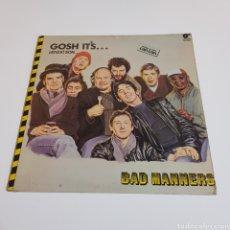 Disques de vinyle: BAD MANNERS GOSH IT'S ¡ ATIZA ! SON .... Lote 195596242