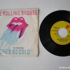 Dischi in vinile: THE ROLLING STONES - SHE'S SO COLD + 1 - EMI ODEON 64081 - ESPAÑA 1980. Lote 195614533