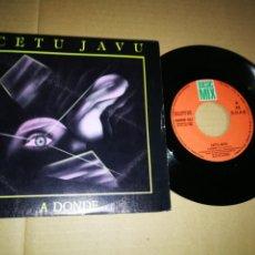 Discos de vinilo: CETU JAVU A DONDE / SO STRANGE SINGLE VINILO PROMOCIONAL ESPAÑOL AÑO 1990 2 TEMAS TECHNO POP OBK. Lote 195620535