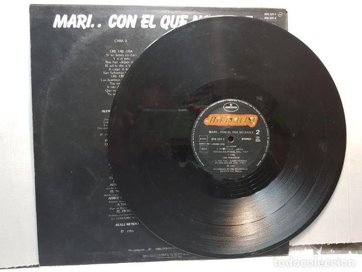 Discos de vinilo: LP-MARI... CON EL QUE NO BAILE-BAILA HASTA CAER en funda original 1986 - Foto 3 - 195639011
