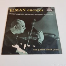 Discos de vinilo: MISCHA ELMAN WITH JOSEPH SEIGER ?– ELMAN RECITAL. DECCA ?– LXT 5304. 1957, ESPAÑA. Lote 195639960
