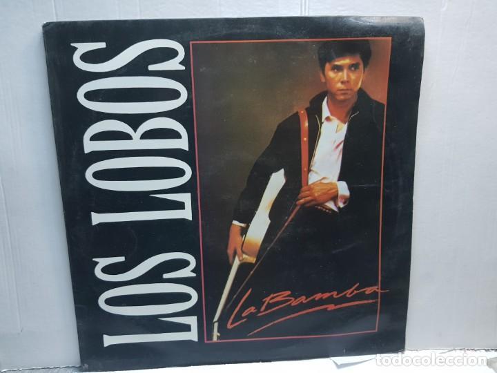LP-LOS LOBOS-LA BAMBA EN FUNDA ORIGINAL 1987 (Música - Discos de Vinilo - EPs - Grupos Españoles de los 90 a la actualidad)