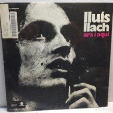 Disques de vinyle: LP-LLUIS LLACH-ARA I AQUI EN FUNDA ORIGINAL 1984. Lote 195647328