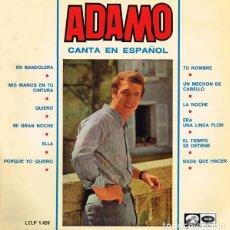 Discos de vinilo: ADAMO, CANTA EN ESPAÑOL. EDICIÓN ORIGINAL LA VOZ DE SU AMO, 1966.. Lote 195647997