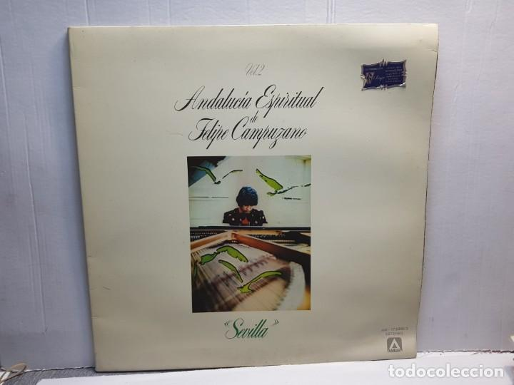LP-FELIPE CAMPUZANO -ANDALUCIA ESPIRITUAL EN FUNDA ORIGINAL 1978 (Música - Discos de Vinilo - EPs - Grupos Españoles de los 90 a la actualidad)
