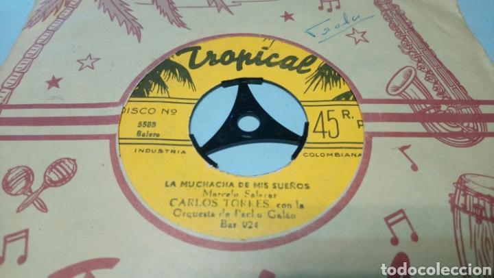 Discos de vinilo: Carlos torres con la orquesta de pacho galan. Ole Morena. Single vinilo edición de Colombia. - Foto 2 - 195661462