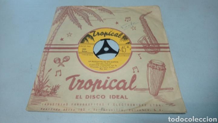 CARLOS TORRES CON LA ORQUESTA DE PACHO GALAN. OLE MORENA. SINGLE VINILO EDICIÓN DE COLOMBIA. (Música - Discos - Singles Vinilo - Grupos y Solistas de latinoamérica)