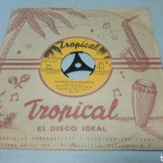 Discos de vinilo: CARLOS TORRES CON LA ORQUESTA DE PACHO GALAN. OLE MORENA. SINGLE VINILO EDICIÓN DE COLOMBIA.. Lote 195661462
