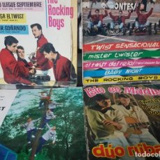 Discos de vinilo: 4 LOTE DE EPS - ROCK TWIST - DUO RUBAM - LOS PÁJAROS LOCOS - THE ROCKING BOYS - MIRAR FOTOS. Lote 195671710