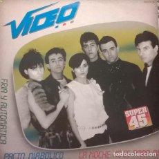 Discos de vinilo: VIDEO LA NOCHE NO ES PARA MI/PACTO DIABOLICO/FRIA Y AUTOMATICA - MAXI-SINGLE SPAIN 1983. Lote 236662170