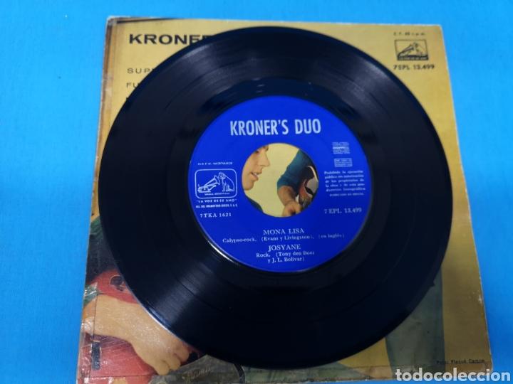 Discos de vinilo: Disco Single KRONER, S DUO: SUPER GUAPA, FUE BAILANDO, MONA LISA, JOSYANE - Foto 3 - 195697613