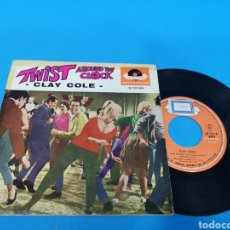 Discos de vinilo: DISCO DE VINILO, CLAY COLE: TWIST DEL RELOJ, NO BAILES EL TWIST, TIEMPOS FELICES, REINA DEL CINE. Lote 195701232