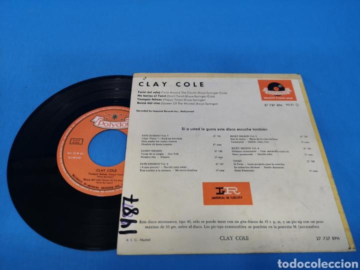 Discos de vinilo: DISCO DE VINILO, CLAY COLE: Twist del Reloj, No bailes el twist, Tiempos felices, Reina del cine - Foto 2 - 195701232
