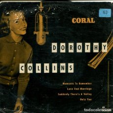 Discos de vinilo: DOROTHY COLLINS / MOMENT'S TO REMEMBER / ONLY YOU + 2 (EP ALEMAN). Lote 195701275