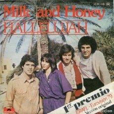 Discos de vinilo: MILK AND HONEY / HALLELUJAH (EUROVISION '79) / LADY SUN (SINGLE 1979). Lote 195711732