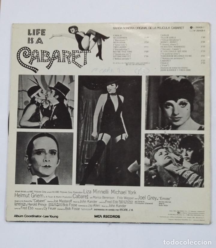 Discos de vinilo: CABARET - BANDA SONORA ORIGINAL DE LA PELICULA. LIZZA MINELLI. LP. TDKLP - Foto 2 - 210134503