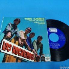 Discos de vinilo: DISCO SINGLE, LOS ROCKEROS, TODO CAMBIÓ, NOCHES DE ESPAÑA, DISCO CLAN, FRENESI. Lote 195717045
