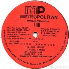 Discos de vinilo: M.C. JOE WITH KING SHAMEEK - IN THE HOUSE MAXI-SINGLE 1989 USA. Lote 195717720